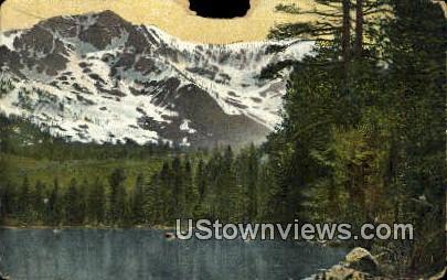 Mt. Tallac, Fallen Leaf Lake - Lake Tahoe, California CA Postcard
