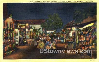 Mexican Bazaars, Olvera Street - Los Angeles, California CA Postcard