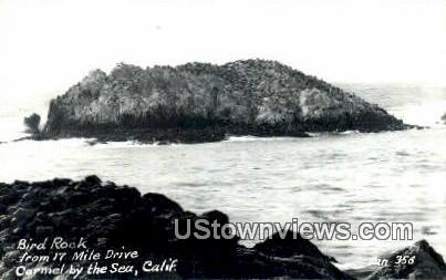 Bird Rock, Real Photo - Carmel by the Sea, California CA Postcard