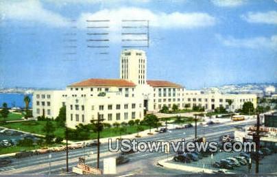 City Hall - San Diego, California CA Postcard