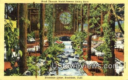 Brookdale Lodge - California CA Postcard