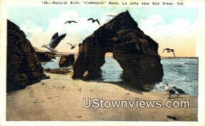 Natural Arch, La Jolla - San Diego, California CA Postcard