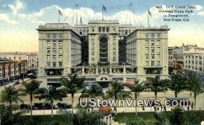 US Grant Hotel - San Diego, California CA Postcard