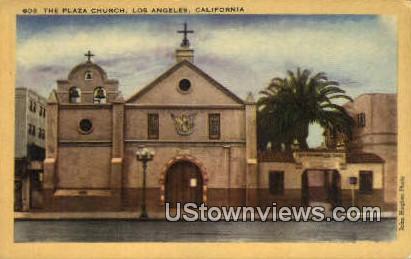 The Plaza Church - Los Angeles, California CA Postcard