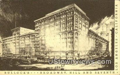 Bullock's Broadway - Los Angeles, California CA Postcard
