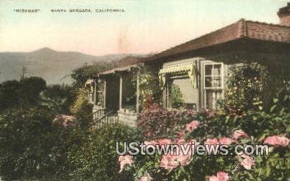 Miramar - Santa Barbara, California CA Postcard