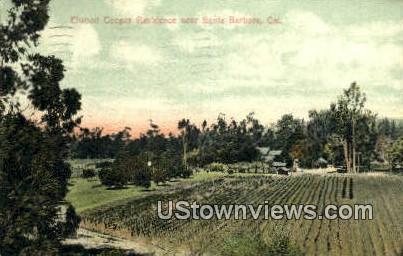 Elwood Cooper Residence - Santa Barbara, California CA Postcard