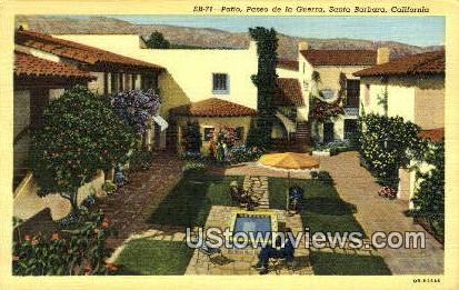 Paseo de la Guerra - Santa Barbara, California CA Postcard