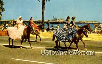 Fiesta - Santa Barbara, California CA Postcard