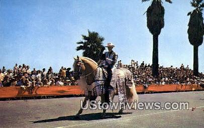 Fiesta Parade - Santa Barbara, California CA Postcard