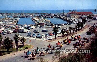 Yacht Harbor - Santa Barbara, California CA Postcard