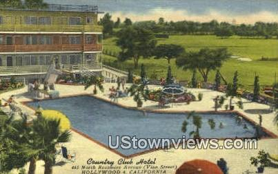 Country Club Hotel - Hollywood, California CA Postcard