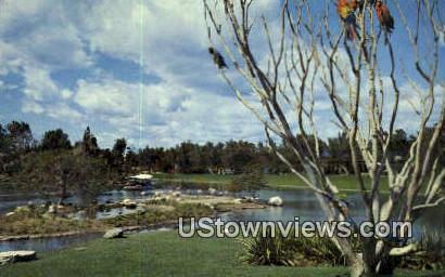 Famed Busch Gardens - Los Angeles, California CA Postcard