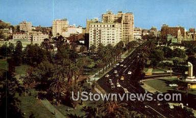 Lafayette Park - Los Angeles, California CA Postcard