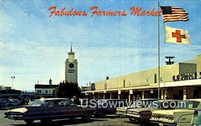 Fabulous Farmers Market - Los Angeles, California CA Postcard