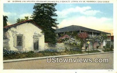Sherman & Halleck Headquarters - Monterey, California CA Postcard
