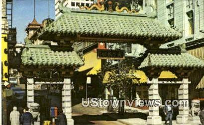 China Gate - Los Angeles, California CA Postcard