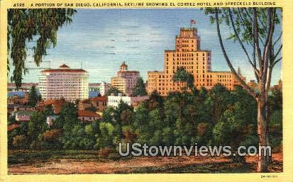 El Cortex Hotel - San Diego, California CA Postcard
