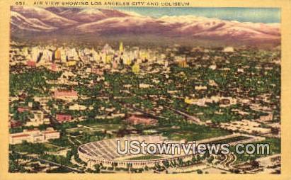 Coliseum - Los Angeles, California CA Postcard