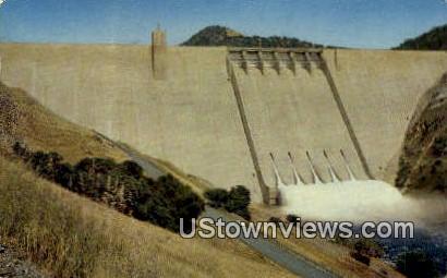 Pine Flat Dam - Fresno, California CA Postcard
