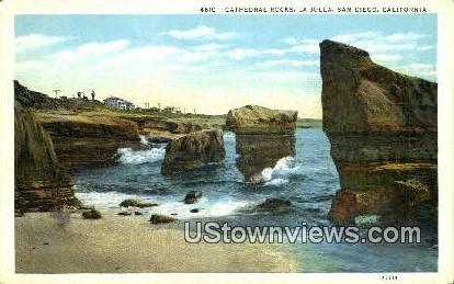 Cathedral Rocks - San Diego, California CA Postcard