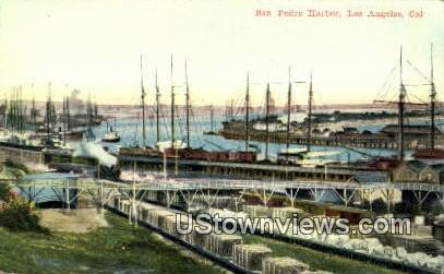 San Pedro Harbor - Los Angeles, California CA Postcard