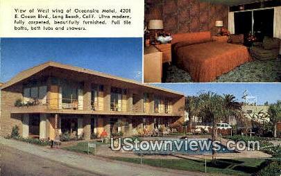Oceanaire Motel - Long Beach, California CA Postcard