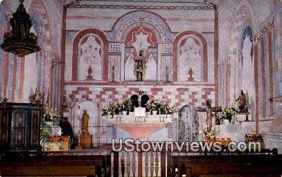 Indian Chapel - San Fernando Mission, California CA Postcard
