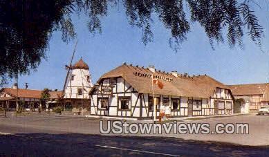 Danish Bldg - Solvang, California CA Postcard