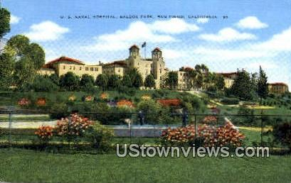 US Naval Hospital - San Diego, California CA Postcard