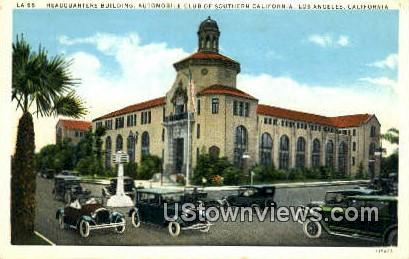 Headquarters Bldg, Auto Club - Los Angeles, California CA Postcard
