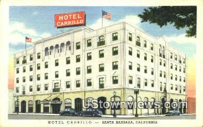 Hotel Carrillo - Santa Barbara, California CA Postcard