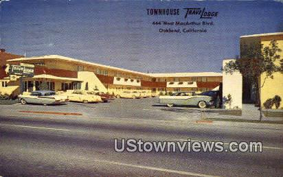 Townhouse Travelodge - Oakland, California CA Postcard
