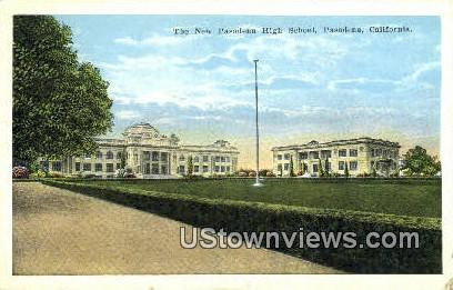 New Pasadena High School - California CA Postcard