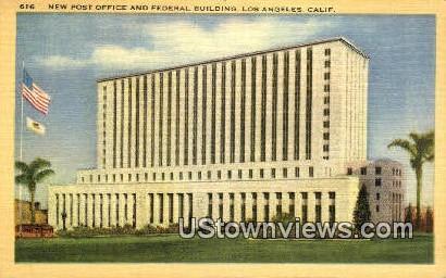 New Post Office & Federal Bldg - Los Angeles, California CA Postcard