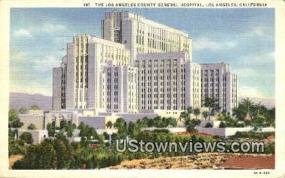 LA County General Hospital - Los Angeles, California CA Postcard