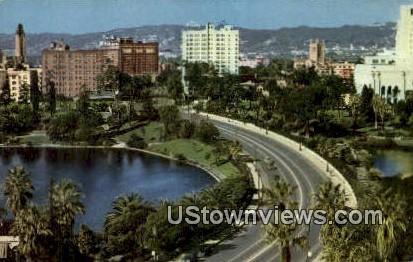 Wilshire Blvd - Los Angeles, California CA Postcard