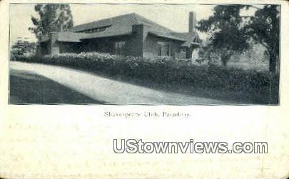 Shakespeare Club - Pasadena, California CA Postcard