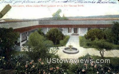 Ramona's Home - Santa Barbara, California CA Postcard