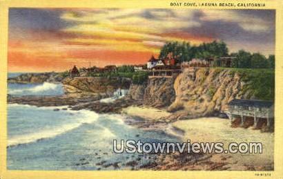 Boat Cove - Laguna Beach, California CA Postcard