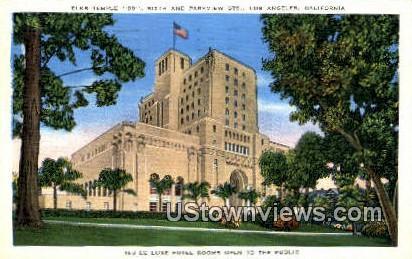 De Luxe Hotel - Los Angeles, California CA Postcard