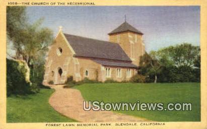 The Church of the Recessional - Glendale, California CA Postcard