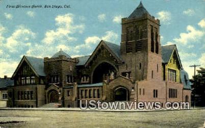 First Christian Church - San Diego, California CA Postcard