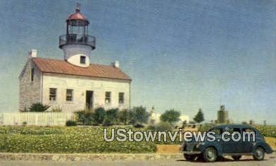 Point Loma Light - San Diego, California CA Postcard