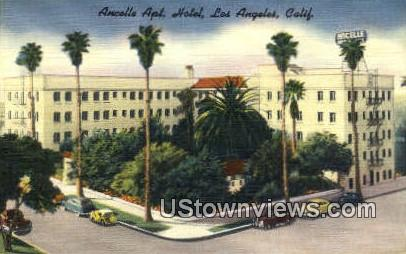 Ancelle Apt Hotel - Los Angeles, California CA Postcard
