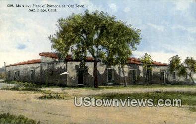 Marriage Place of Ramona - San Diego, California CA Postcard