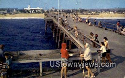 Newport Harbor - Balboa, California CA Postcard