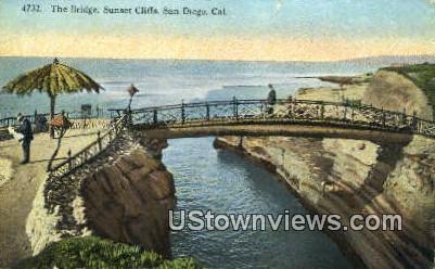 The Bridge, Sunset Cliffs - San Diego, California CA Postcard
