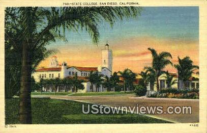 State College - San Diego, California CA Postcard