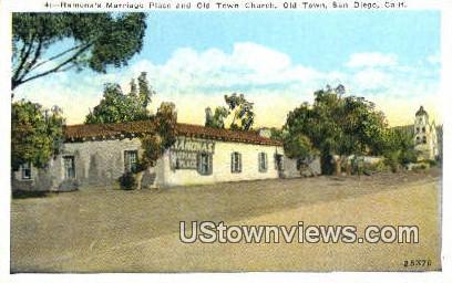 Old Town Church - San Diego, California CA Postcard